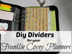 Smile for no reason: DIY Dividers for your Franklin Covey Planner Organized Planner, Planner Tabs, Planner Dividers, Planner Ideas, Life Planner, Printable Planner, Big Family Organization, Organization Station, Binder Organization