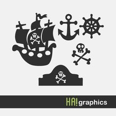PNG SVG and DXF Files  pirates nautical pirate ship