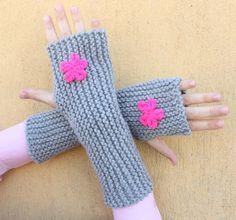 Knit Fingerless Gloves Fingerless Mittens Knit Arm by simmmsimmm