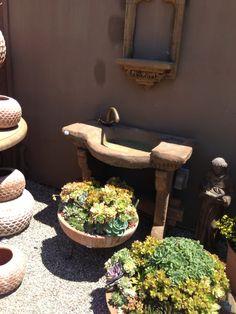 Sink for a garden room Garden Sink, Garden Ideas, Planter Pots, Room, Bedroom, Rooms, Landscaping Ideas, Backyard Ideas, Outdoor Garden Sink