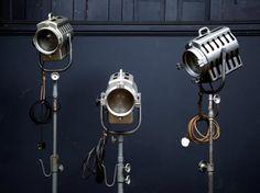 Theatre Lights On Stands , Antique Lighting, Drew Pritchard