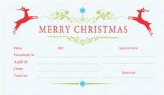 Present Voucher Template Shinning Stars Christmas Gift Certificate Template #certificate .