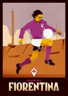 Vintage Italian Posters ~ #Vintage #Italian #posters ~ Calcio by Jorge Lawerta, via Behance