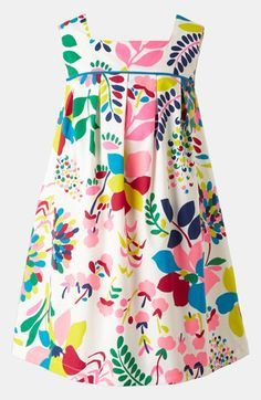 Main Image - Mini Boden Pleated Print Dress (Little Girls & Big Girls) Fashion Kids, Little Girl Fashion, Toddler Fashion, Fashion 2016, Fashion Top, Fashion Spring, Fashion Trends, Toddler Dress, Toddler Outfits