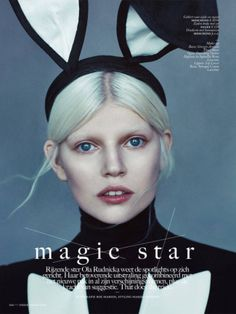 Magic Stars As seen in Vogue Netherlands April 2014 Photographed by Boe Marion Model Ola Rudnicka Styled by Marje Goekoop