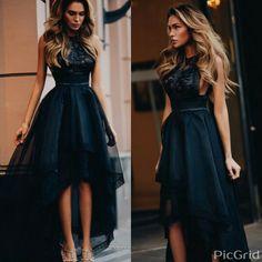 Black dress haute cuture