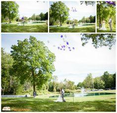 First Look, Balloon Release, Rustic Weddings Lowell Wedding Photographer, Grand Rapids Photographer, Backyard Wedding, Fall Wedding, Purple, Grey, Grey Suits