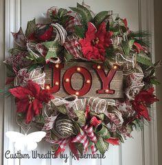 Christmas Joy Wreath More
