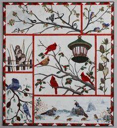 Audubun christmas quilt de Kathymcneilquilts, hermoso quilt!!!