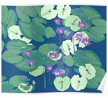 Waterlilies pattern poster