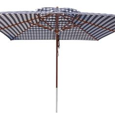 anndora® Sonnenschirm Marktschirm Gastronomie Biergarten 4 x 4 m - mit Winddach kariert Blau / Weiß