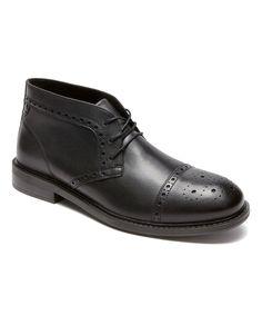 Black Gavin Leather Boot - Men