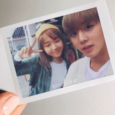 bunsodan with their partner ー。give credit if you wanna repost and don't crop the watermark. Kpop Couples, Ulzzang Couple, Ioi, It Cast, Thankful, Polaroid Film, Wattpad, Kawaii, Actors