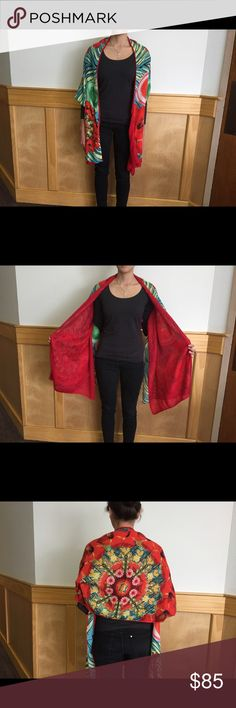 Desigual Scarf Beautiful Desigual scarf that has multiple styles. Desigual Accessories Scarves & Wraps