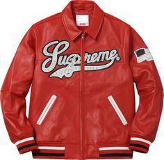 Supreme Uptown Studded Leather Varsity Jacket (2016)
