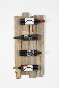 Barn Wood Wall Wine Rack | Jane