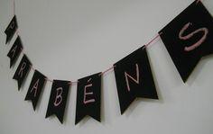 Banderinhas lousa para decoração de sua festa ou evento!