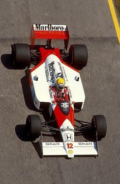 second faster than Senna. Ayrton Senna in his McLaren-Honda-MP44,2nd on the grid for the 1988 Portuguese Grand Prix