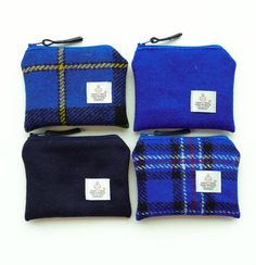 Blue purses - HARRIS TWEED - choice of 4 colours £9.50
