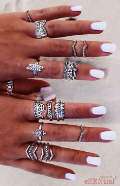 Stacked rings  Pinterest: @JENNY