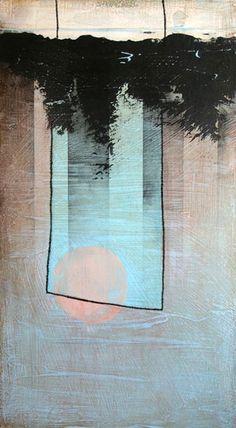 Michael Pittman, Passage With Blue Membrane, mixed media on panel