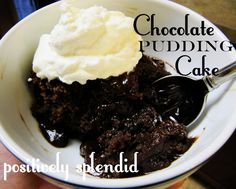 Chocolate Pudding Cake Recipe | Positively Splendid {Crafts, Sewing, Recipes and Home Decor}