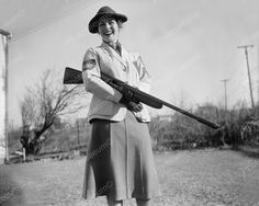 Maryland woman takes skeet shooting title. Albert F. Walker of this town has been declared 1937 women's skeet shooting champion of the country by the National Skeet Shooting Association. The Association has released the Skeet Shooting, Trap Shooting, Shooting Sports, Antique Photos, Old Photos, Vintage Photos, Women Shooting Guns, Hunting Supplies, Armada
