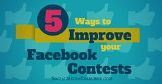 Do you run Facebook contests to promote your business?  Want to reach more people and increase participation?