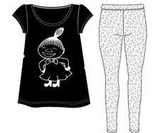 Tyylikäs pyjama Pikku Myy printillä ja leggins-housuilla joissa pantterikuvio.