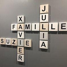 Suzie a ajouté une photo de son achat Scrabble Wall Art, Scrabble Letters, Wooden Letters, Giant Letters, Quirky Decor, Thing 1, Smooth Walls, Scandinavian Style, Decoration