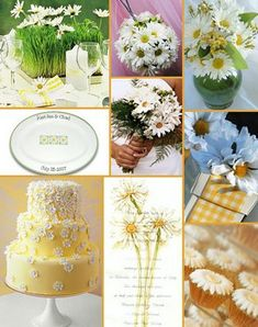 Daisy Wedding Inspiration Boards