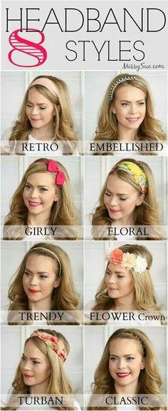Hair styles .