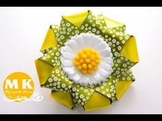 Master class from Kanzashi.Tsvety lent.Rezinka for volos.Romashka kanzashi / Scrunchy.Daisy Kanzashi. - YouTube