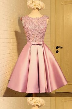 A-Line Prom Dresses #ALinePromDresses, Homecoming Dresses A-Line #HomecomingDressesALine, Homecoming Dresses 2018 #HomecomingDresses2018, Short Prom Dresses #ShortPromDresses, Short Homecoming Dresses #ShortHomecomingDresses, Prom Dresses Pink #PromDressesPink