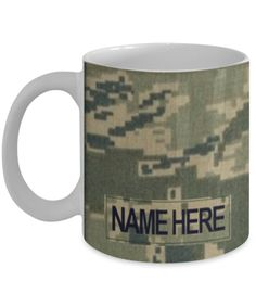 Personalized Military Coffee Cups