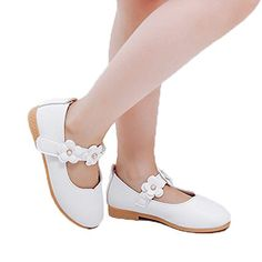 Vokamara Cute Cat Shoes for Toddler Girls PU Leather Mary Jane