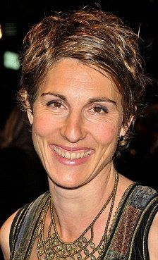 Tamsin Greig. Hard not to be a fan of an actress who is beautiful at 47, is not afraid to make silly faces and voices on camera, seems like a pretty normal mom, and has a cute short haircut (with some gray highlights!).