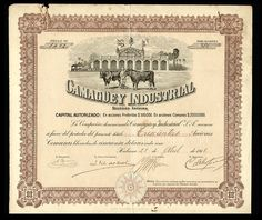 Camagüey Industrial S.A. (Caribic) 1918