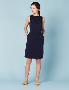 Navy Chino Tunic Dress Boden