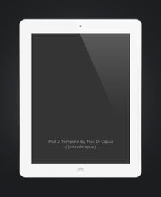 iPad 2 PSD Template