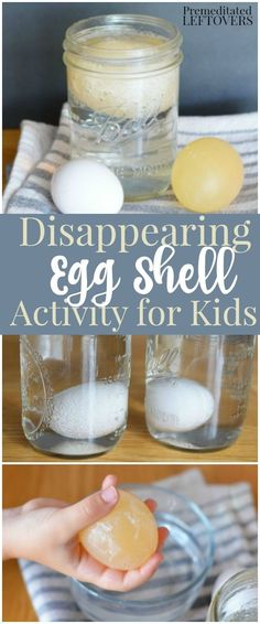 Love to do crafts and experiments with your kids? Try this simple, but fun disappearing egg activity!