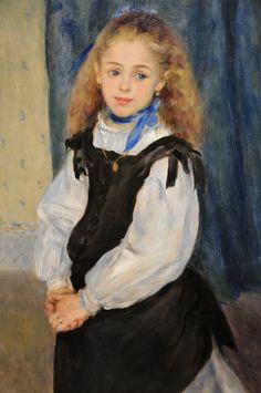 Pierre Auguste Renoir - Portrait of Mademoiselle Legrand, 1875 at the Museum of Art Philadelphia PA