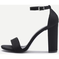 Two Part Block Heeled Sandals (94 BRL) ❤ liked on Polyvore featuring shoes, sandals, black, platform shoes, block heel sandals, black chunky sandals, black peep toe sandals and black platform sandals