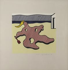 ROY LICHTENSTEIN - Nude On Beach -  1978 -  Lithograph on Arches paper -  25 3/4 x 24 1/2 in. -  Edition of 38 -  Pencil signed, dated and numbered - Contact us at info@gsfineart.com or call us at 305-456-5478