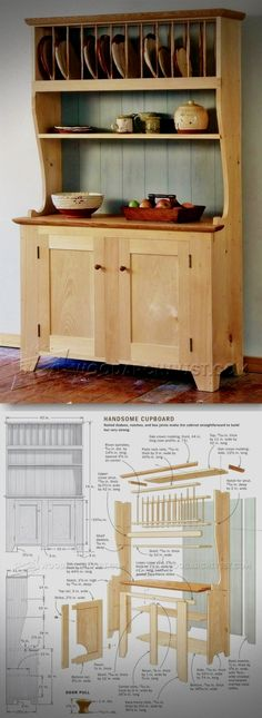 Cupboard Plans - Furniture Plans and Projects - Woodwork, Woodworking, Woodworking Plans, Woodworking Projects Woodworking Furniture Plans, Easy Woodworking Projects, Diy Wood Projects, Furniture Projects, Teds Woodworking, Furniture Making, Wood Furniture, Home Projects, Woodworking Skills
