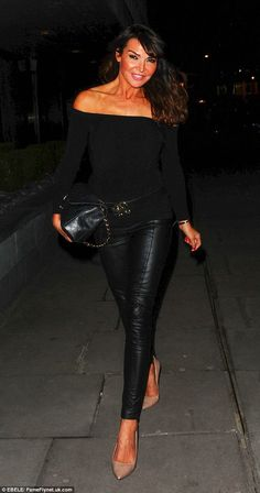 Lizzie Cundy Spandex Leather | in force: Meanwhile, Lizzie Cundy got dolled up in a pair of leather ...