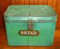 Electronics, Cars, Fashion, Collectibles, Coupons and Old Kitchen, Vintage Kitchen, Retro Vintage, Vintage Bread Boxes, Paint Metal, Bread Bin, Metal Tins, Metallic Paint, Primitive