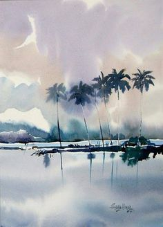 Watercolor by Sadhu Aliyur
