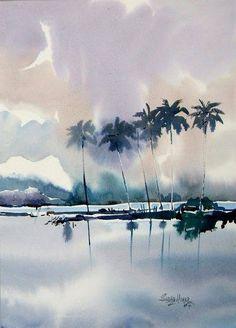 Watercolor by Sadhu Aliyur