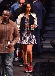 Rihanna in the Air Jordan XX8  jordan  rihanna Celebrity Dresses 2e80591049
